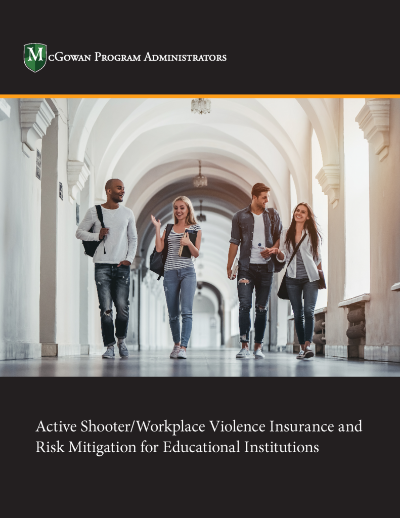 active shooter/workplace violence insurance and risk mitigation for educational institutions ebook
