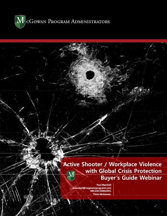 active shooter/workplace violence with global crisis protection buyer's guide webinar ebook