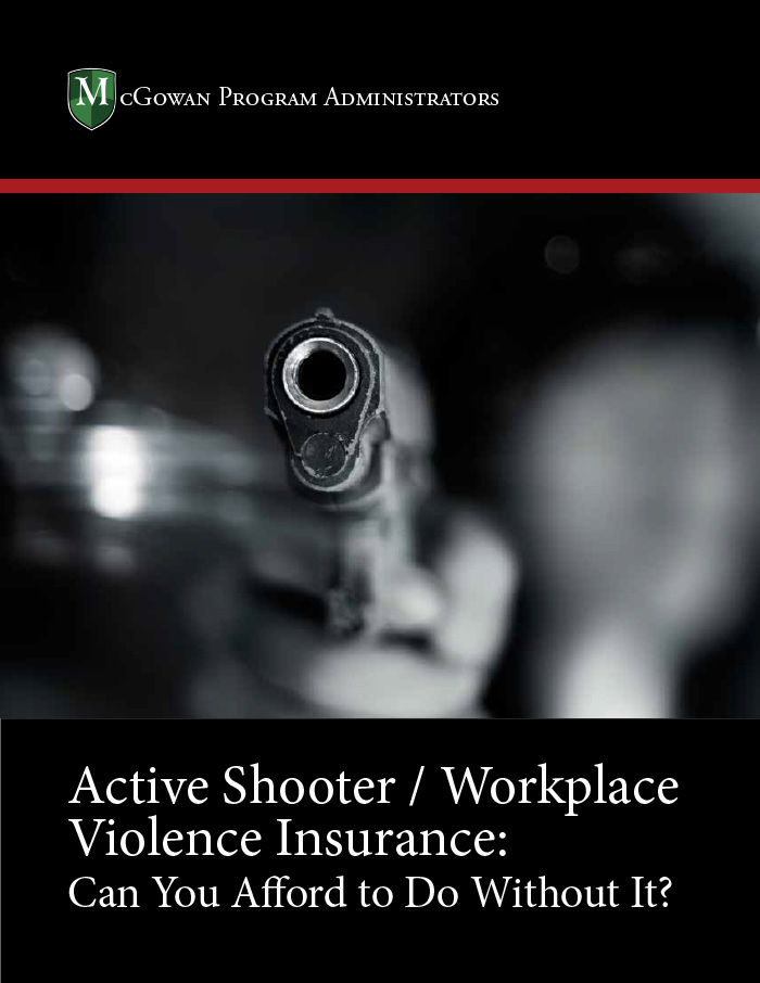 active shooter/workplace violence insurance. can you afford to do without it ebook