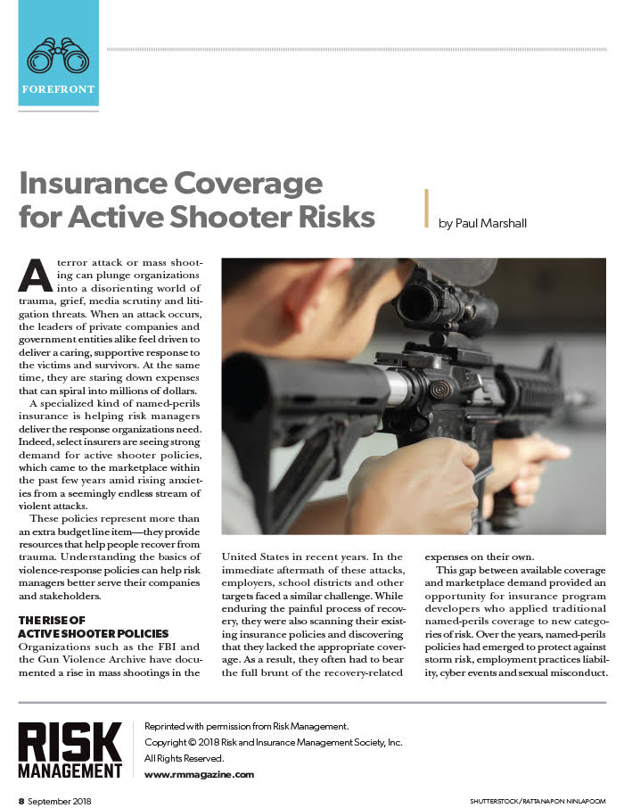 Forefront active shooter article