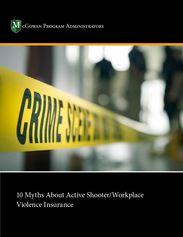 10 myths about active shooter/workplace violence insurance ebook