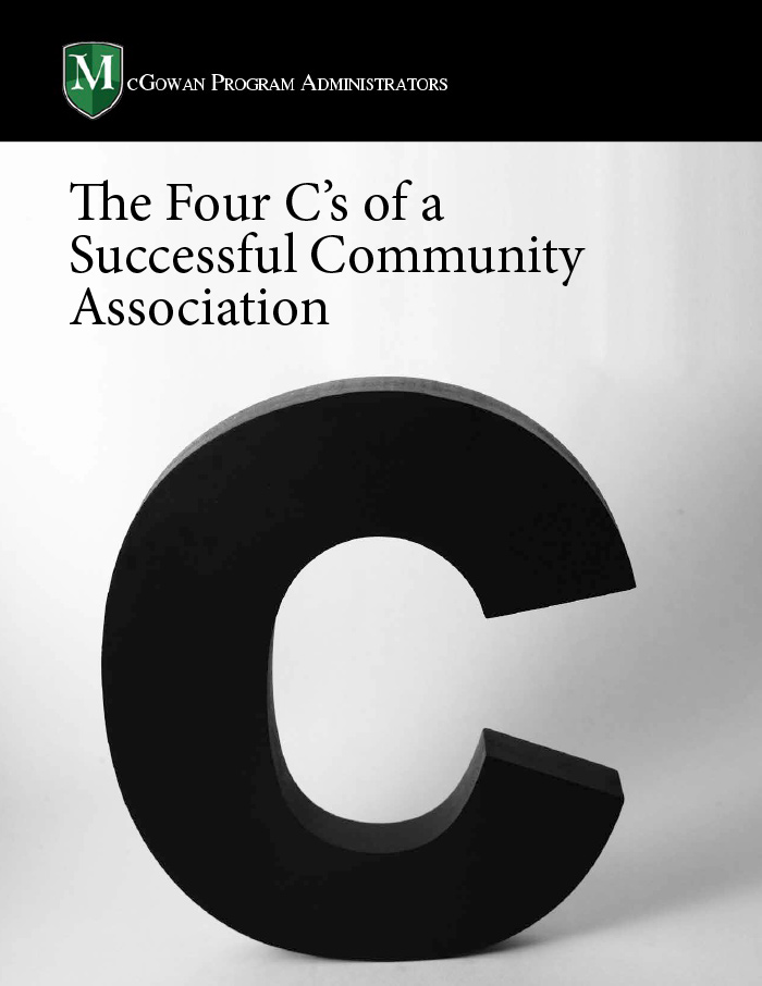 the four Cs of a successful community association ebook