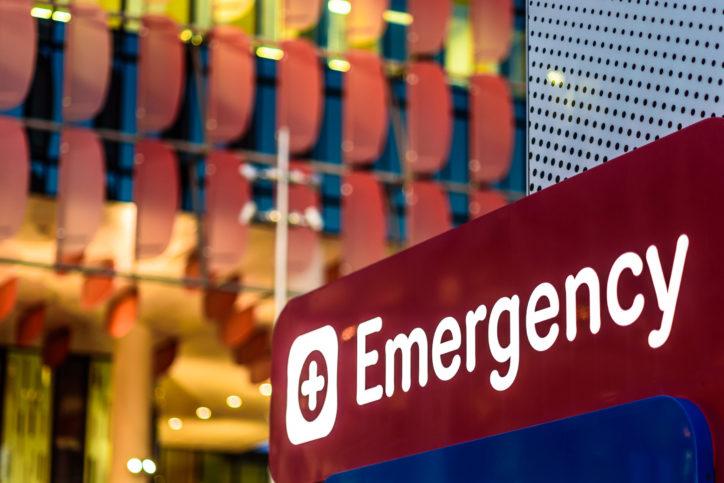 hospital emergency center sign