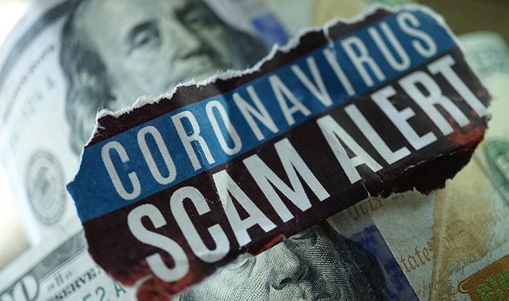 coronavirus scam alert headline