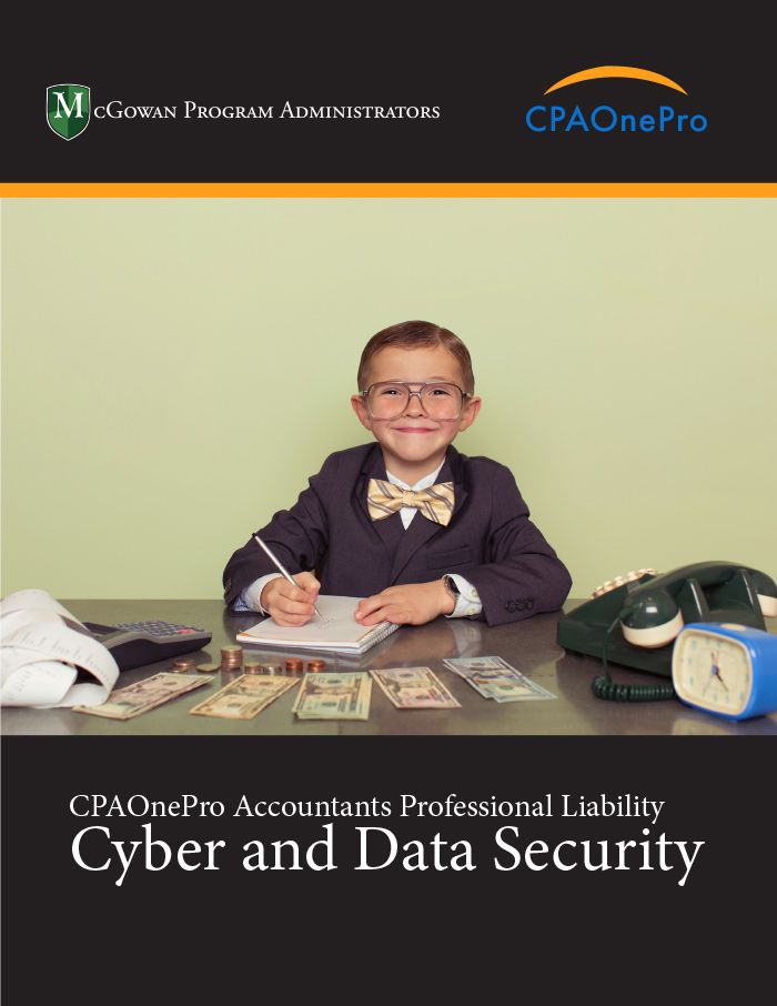 CPA One PRO Accountants Professional Liability Cyber & Data Security ebook