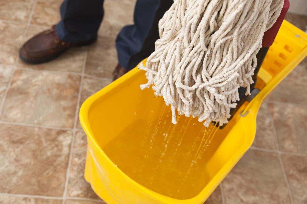 mop in a bucket